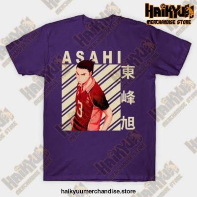 Haikyuu Asahi Azumane T-Shirt Purple / S