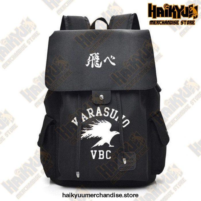 Haikyuu Backpack  Karasuno VBC Black Official Haikyuu Backpack Merch