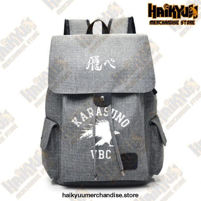 Gray Official Haikyuu Backpack Merch