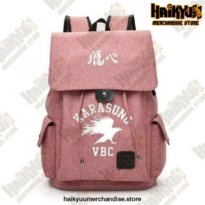 Pink Official Haikyuu Backpack Merch