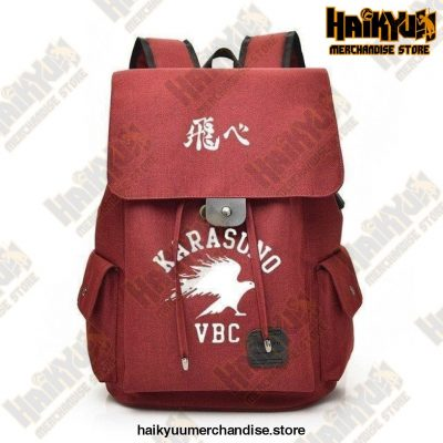 Red Official Haikyuu Backpack Merch
