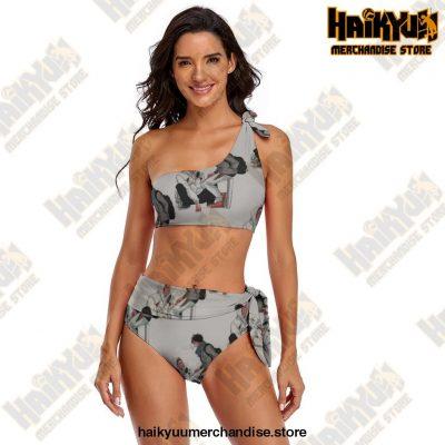 Haikyuu Bikini Swimsuit Colaless Multicolor Two Piece Bathing Suit