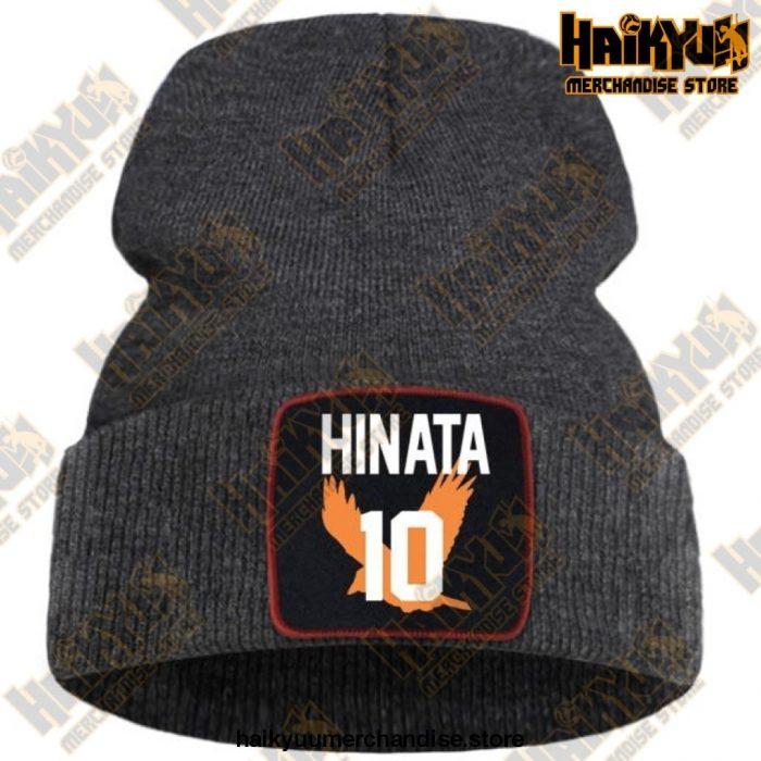 Haikyuu Hinata Shoyo Number 10 Beanie Dark Gray / China One Size