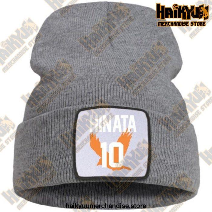 Haikyuu Hinata Shoyo Number 10 Beanie Gray / China One Size