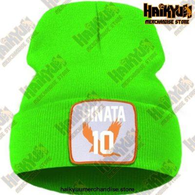 Haikyuu Hinata Shoyo Number 10 Beanie Green / China One Size