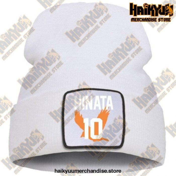 Haikyuu Hinata Shoyo Number 10 Beanie White / China One Size