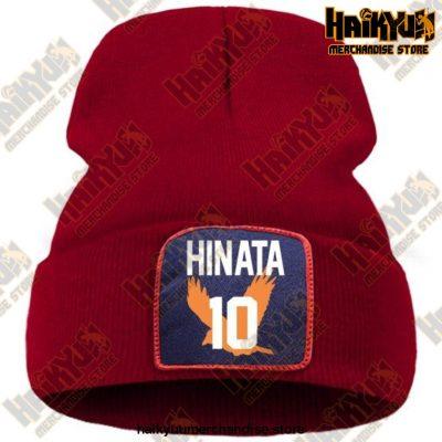 Haikyuu Hinata Shoyo Number 10 Beanie Wine Red / China One Size