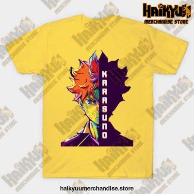 Haikyuu Hinata Shoyo T-Shirt Yellow / S