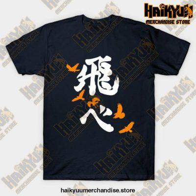 Haikyuu Karasuno Fly Orange T-Shirt Navy Blue / S