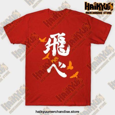 Haikyuu Karasuno Fly Orange T-Shirt Red / S