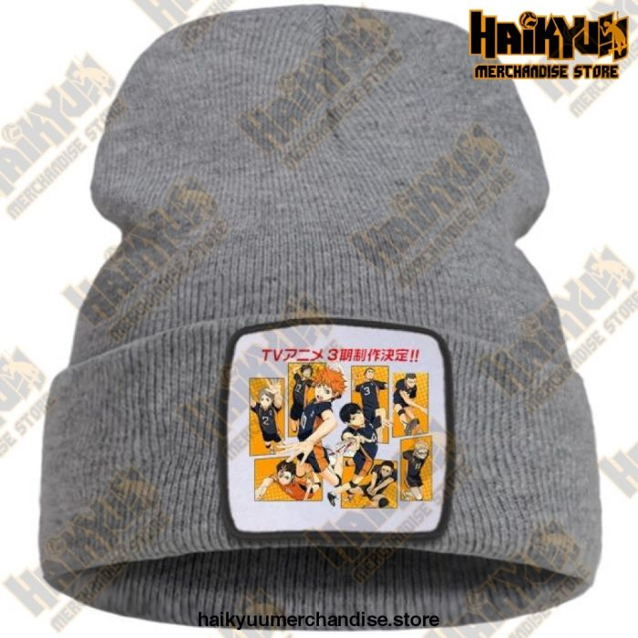 Haikyuu Karasuno High School Beanie For Teens Gray / China One Size