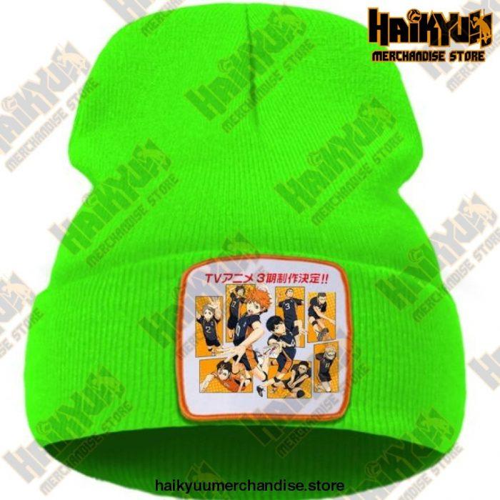 Haikyuu Karasuno High School Beanie For Teens Green / China One Size
