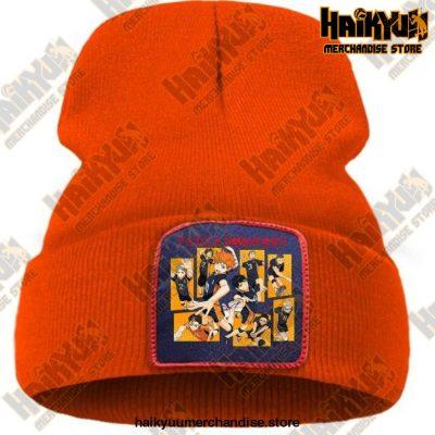 Haikyuu Karasuno High School Beanie For Teens Orange / China One Size
