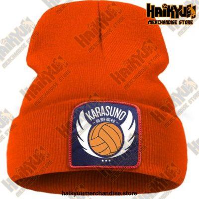 Haikyuu Karasuno High Winter Beanie Orange / China One Size