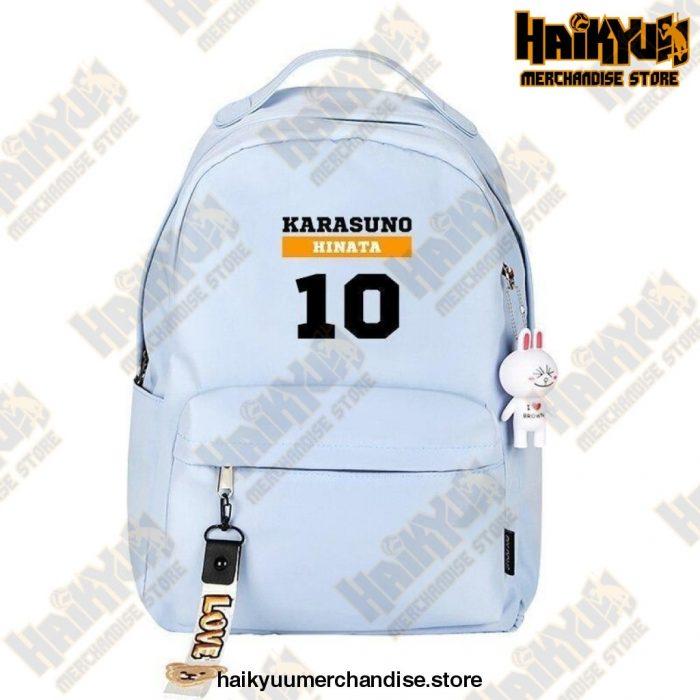 Haikyuu Backpack  Hinata Blue Official Haikyuu Backpack Merch