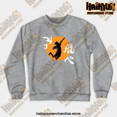 Haikyuu Karasuno - Hinata Smash Crewneck Sweatshirt Gray / S