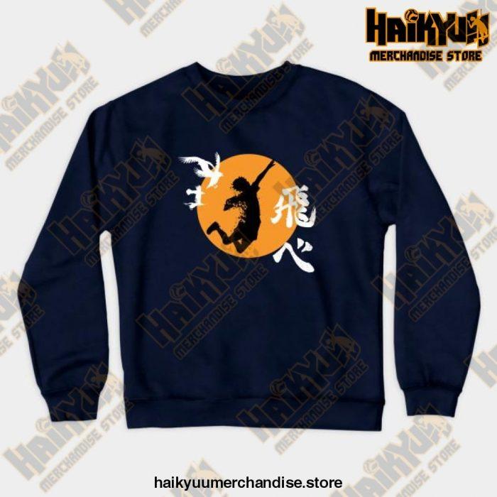 Haikyuu Karasuno - Hinata Smash Crewneck Sweatshirt Navy Blue / S