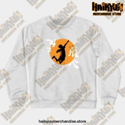Haikyuu Karasuno - Hinata Smash Crewneck Sweatshirt White / S