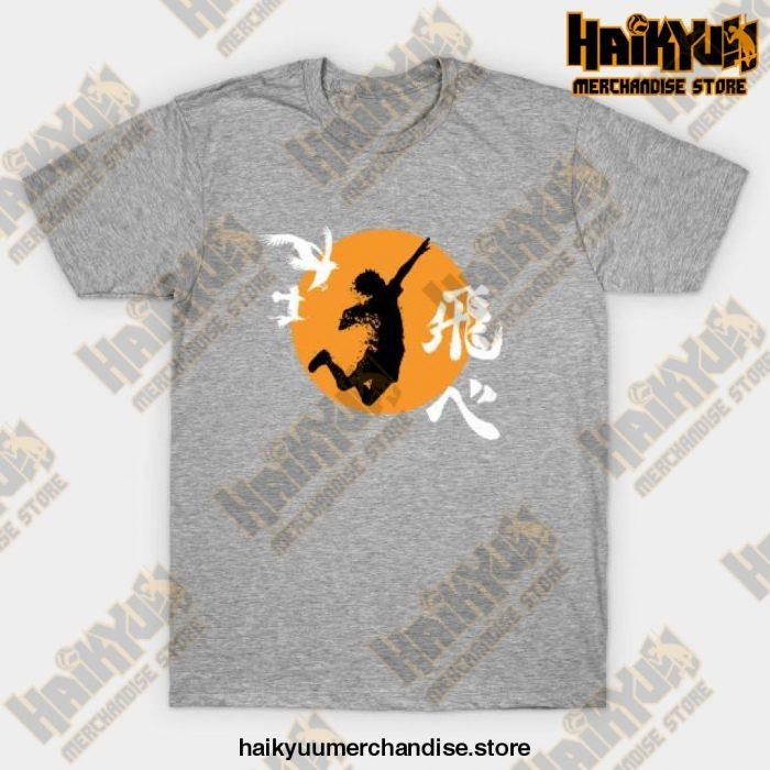 Haikyuu Karasuno - Hinata Smash T-Shirt Gray / S