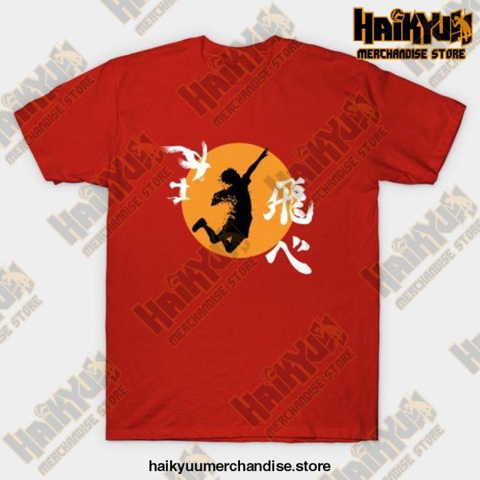 Haikyuu Karasuno - Hinata Smash T-Shirt Red / S
