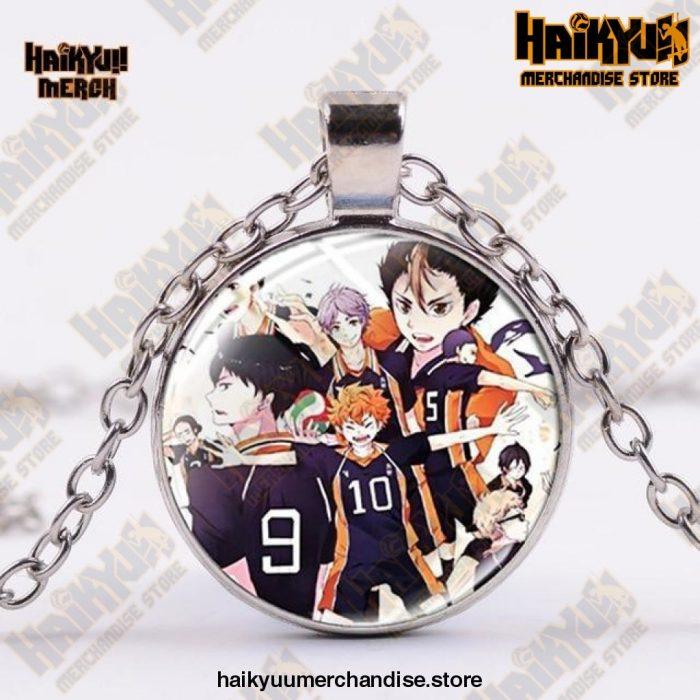 Haikyuu Necklace  Karasuno Silver Official Haikyuu Jewelry Merch