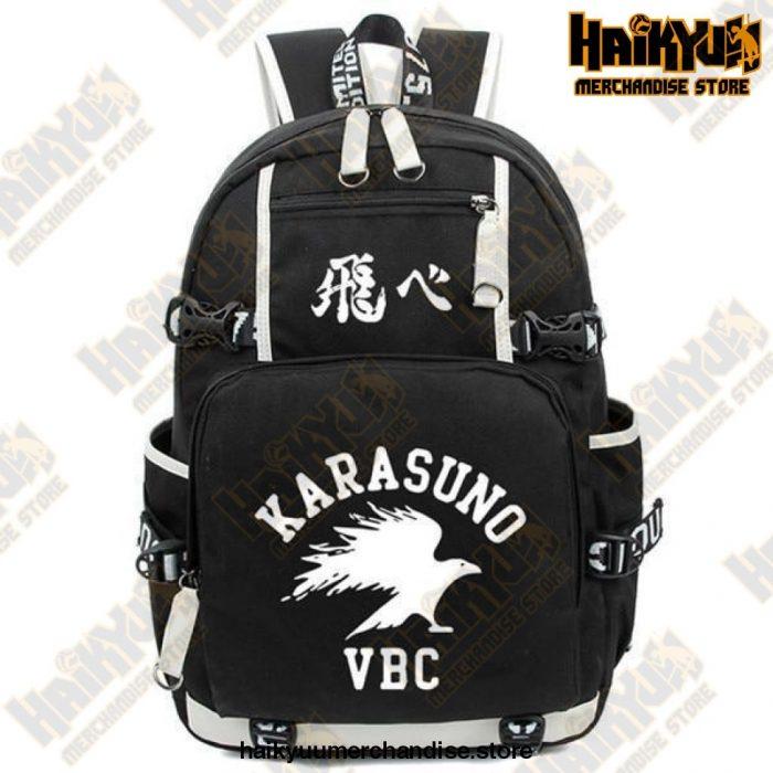 Haikyuu Backpack  Karasuno VBC (Zip) Black Official Haikyuu Backpack Merch