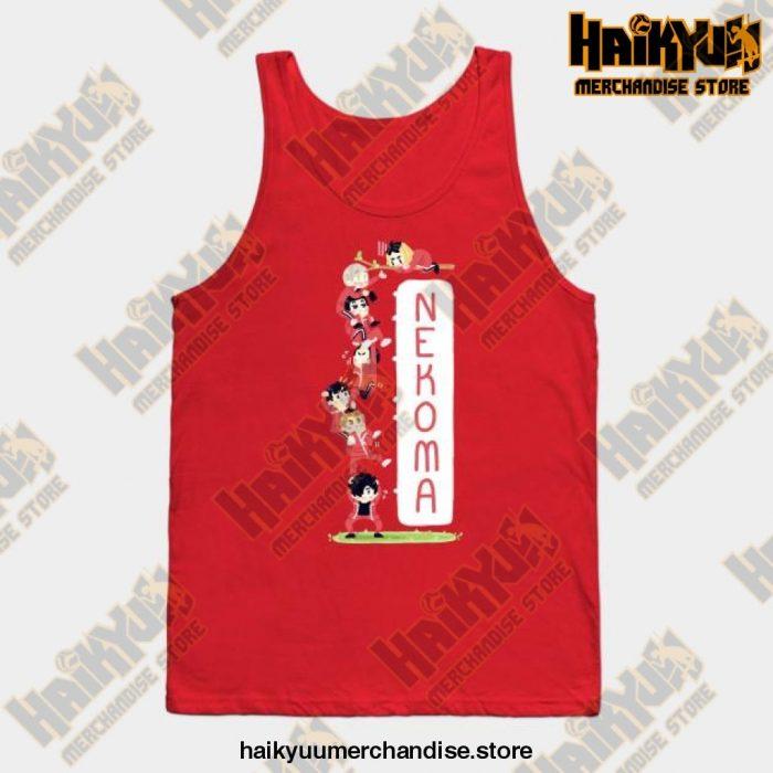 Haikyuu Nekoma Cattower Tank Top Red / S