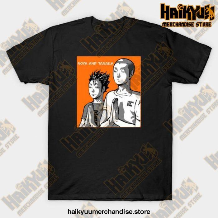 Haikyuu Noya Tanaka Prayer T-Shirt Black / S