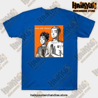 Haikyuu Noya Tanaka Prayer T-Shirt Blue / S