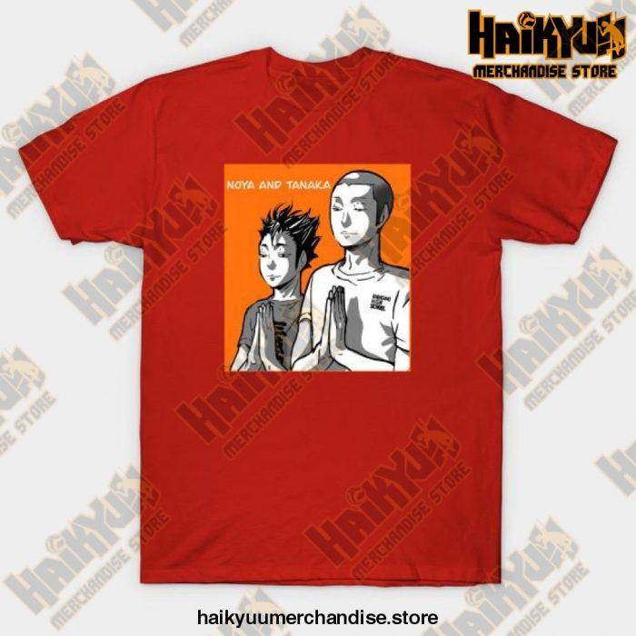 Haikyuu Noya Tanaka Prayer T-Shirt Red / S
