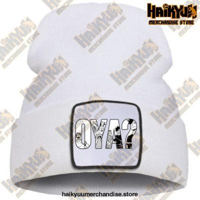 Haikyuu Oya Anime Cool Print Beanie White / China One Size