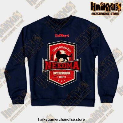 Haikyuu Team Nekoma Grunge Style Sweatshirt Navy Blue / S