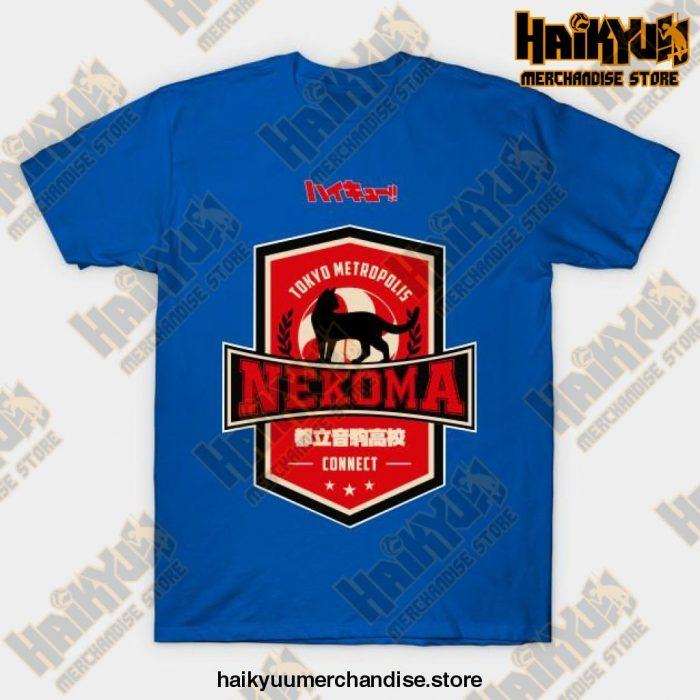 Haikyuu Team Nekoma T-Shirt Blue / S