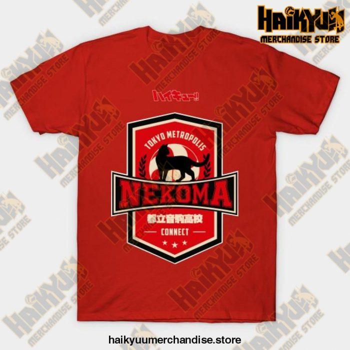 Haikyuu Team Nekoma T-Shirt Red / S