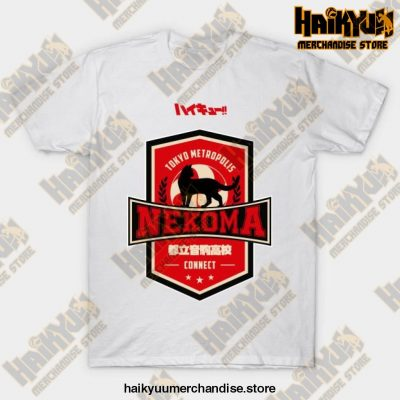 Haikyuu Team Nekoma T-Shirt White / S