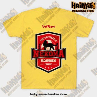 Haikyuu Team Nekoma T-Shirt Yellow / S