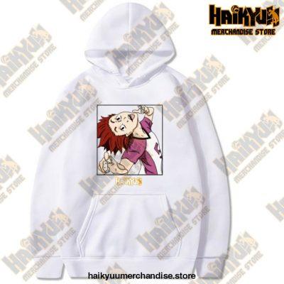 Haikyuu Unisex Hoodies Japanese Anime Satori Tendou Printed Mens Hoodie Streetwear Casual