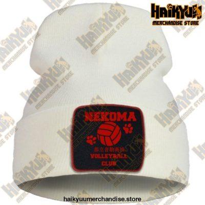 Haikyuu Volleyball Club Red Knitted Beanie Beige / China One Size