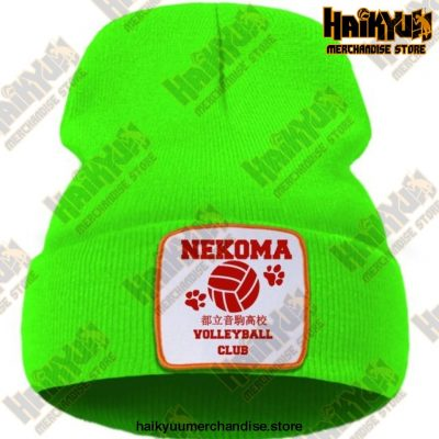 Haikyuu Volleyball Club Red Knitted Beanie Green / China One Size