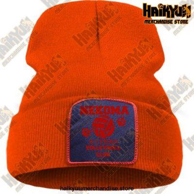 Haikyuu Volleyball Club Red Knitted Beanie Orange / China One Size