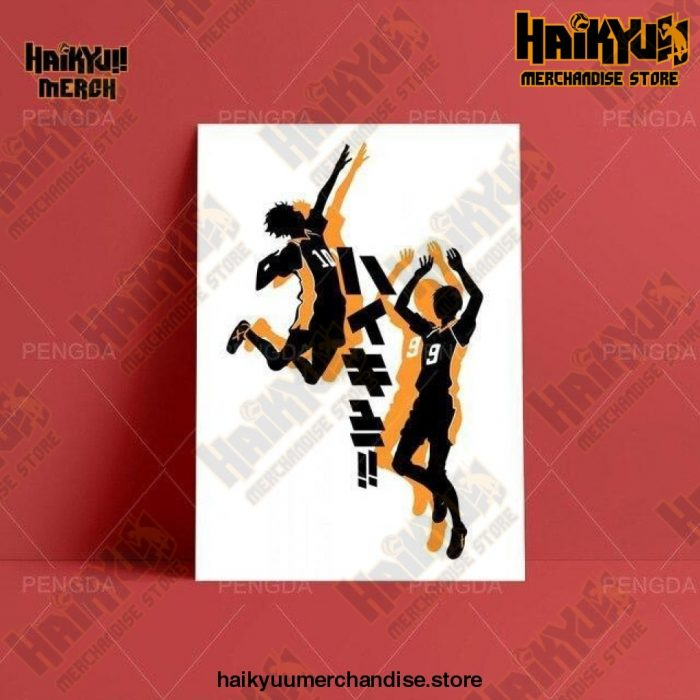 Haikyuu Wall Art  Kageyama and Hinata 13x18cm  No Frame Official Haikyuu Canvas Merch