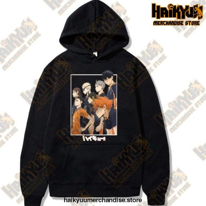 Harajuku Hoodie Sweatshirt Haikyuu Print Cosplay Costume Anime Women/men Top Black / Xxxl
