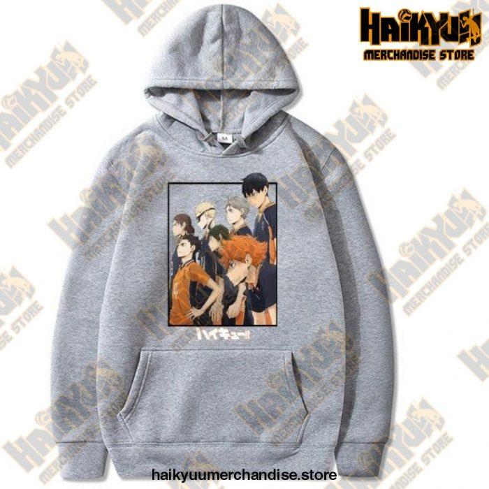 Harajuku Hoodie Sweatshirt Haikyuu Print Cosplay Costume Anime Women/men Top Gray / Xxxl