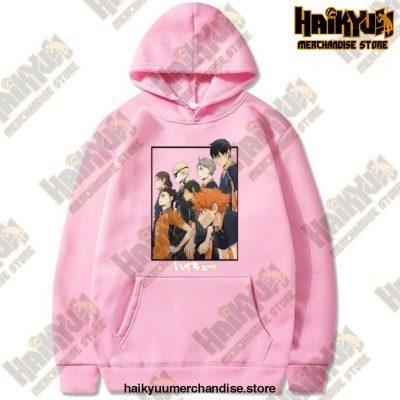Harajuku Hoodie Sweatshirt Haikyuu Print Cosplay Costume Anime Women/men Top Pink / Xxxl