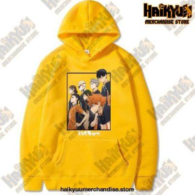 Harajuku Hoodie Sweatshirt Haikyuu Print Cosplay Costume Anime Women/men Top Yellow / Xxxl