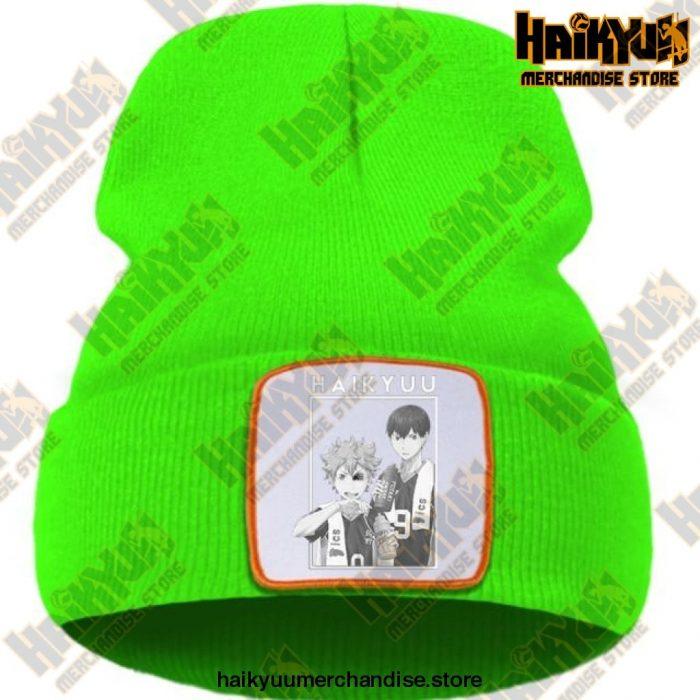 Hinata And Kageyama Haikyuu Beanie Green / China One Size