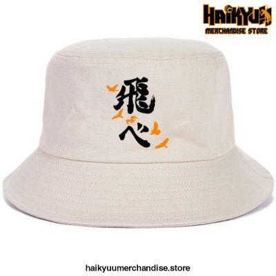 Japan Casual Haikyuu Bob Hats Black Logo - Beige