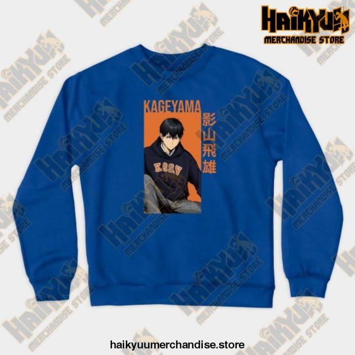 Kageyama Tobio Haikyuu Sweatshirt Blue / S