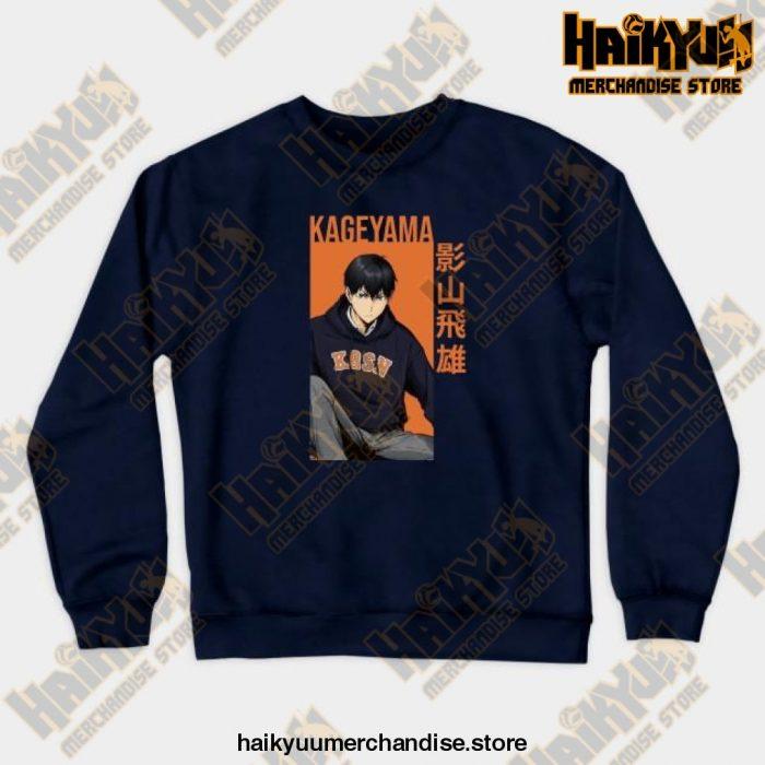 Kageyama Tobio Haikyuu Sweatshirt Navy Blue / S