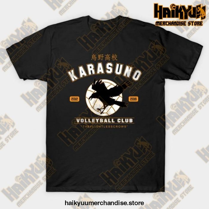Karasuno Haikyuu Anime T-Shirt Black / S